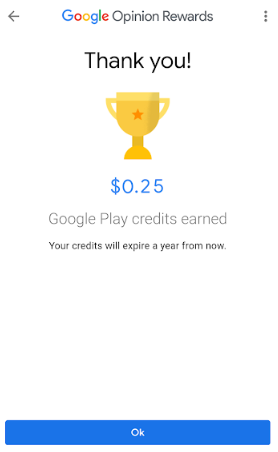 google openion rewards