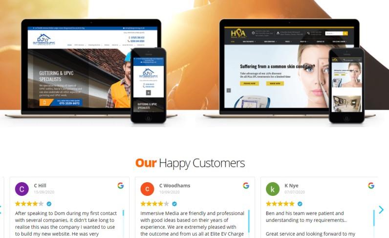 Immersive Media Web Design Marketing
