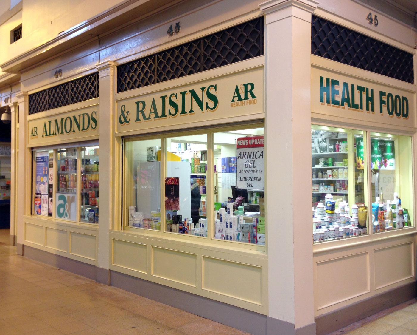 Almonds & Raisins Health Foods